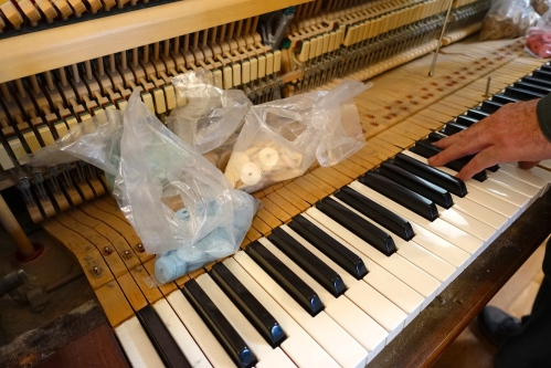 Piano. Action repair