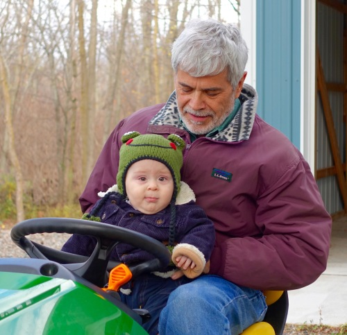 Riding Tractor with Grandpa