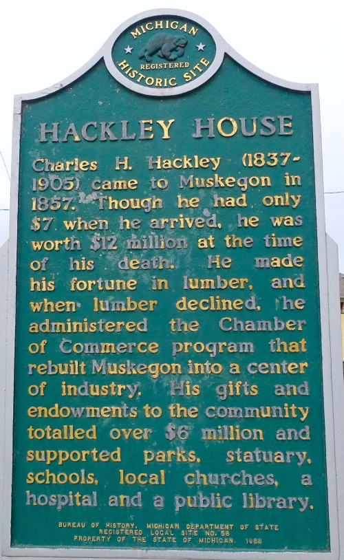 Sign for Hackley House