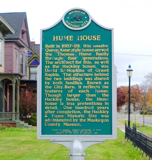 Sign for Hume House