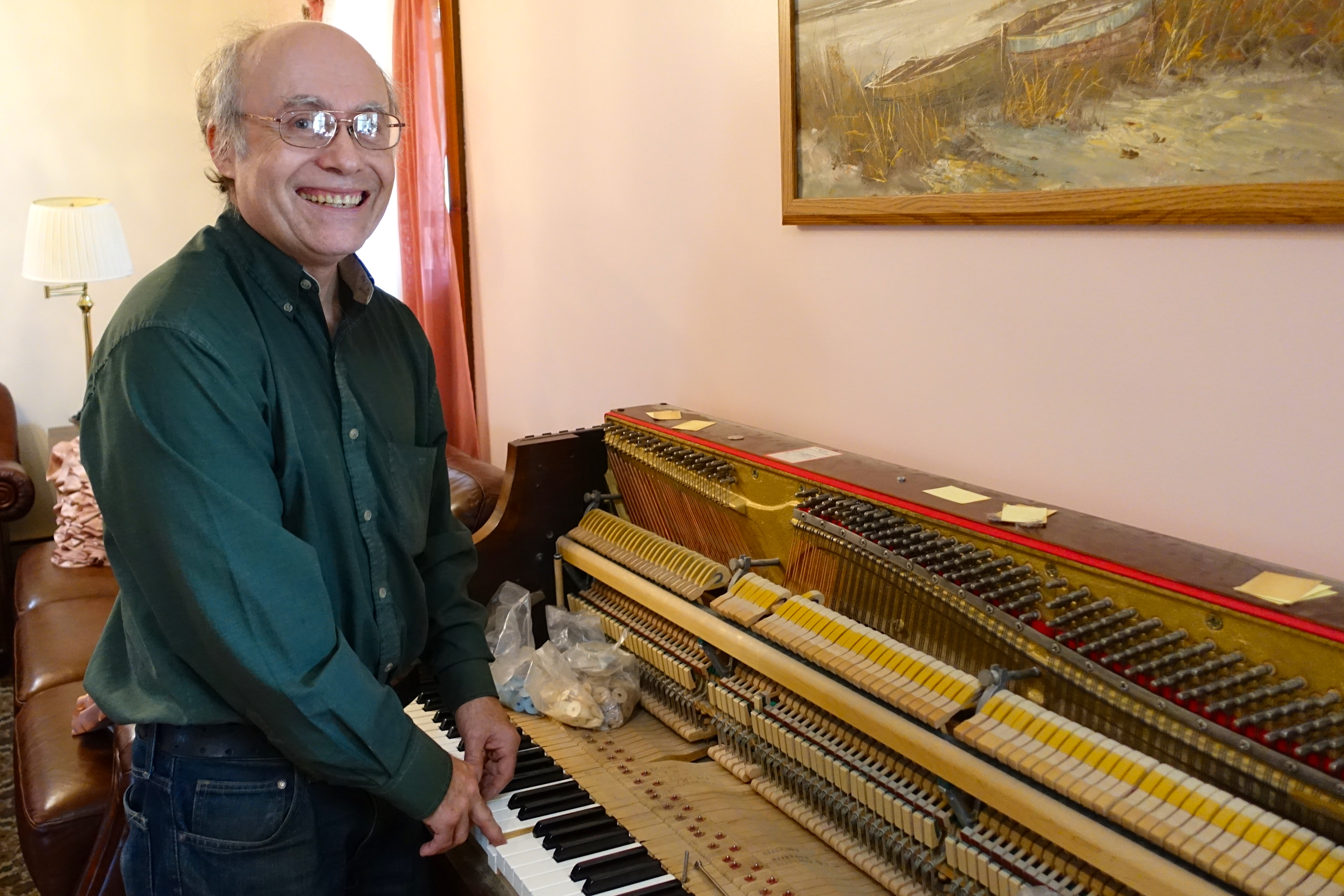 Steve Jewell. Piano tuner