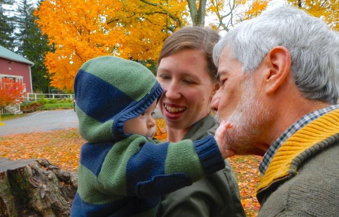 Touching Grandpa's Face