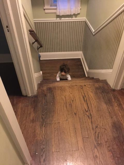 Baby climbing stairs 1