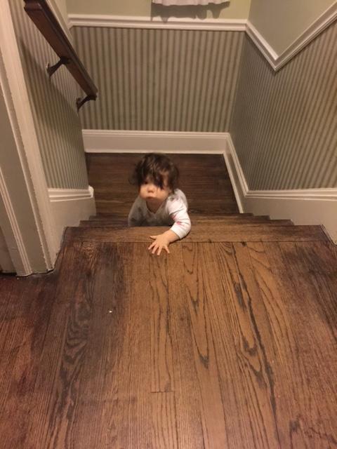 Baby climbing stairs 2