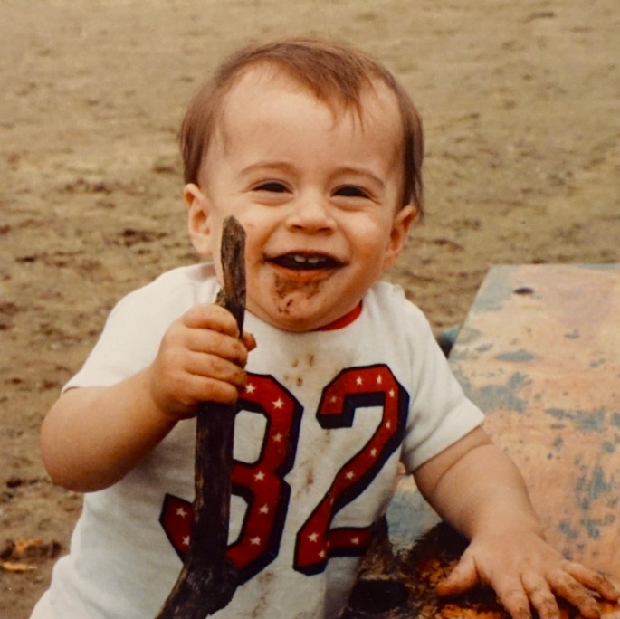 Baby with Stick