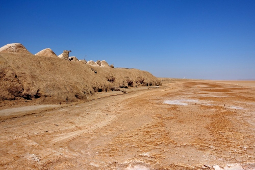 Chott el Djerid. Tunisia in Summer