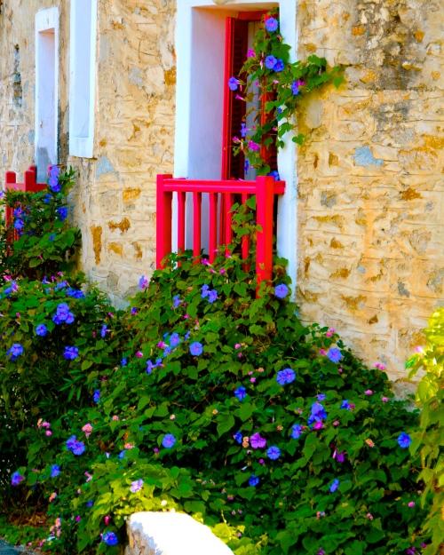 Door in Mediterranean Island