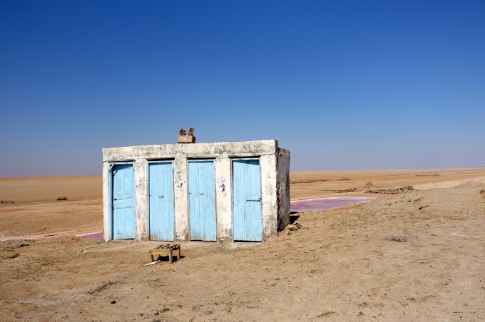 Doors to outhouse in Tunisia