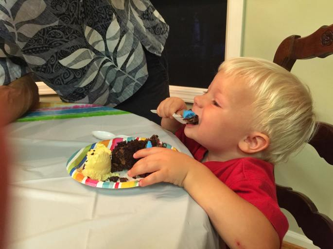 Eating Birthday cake