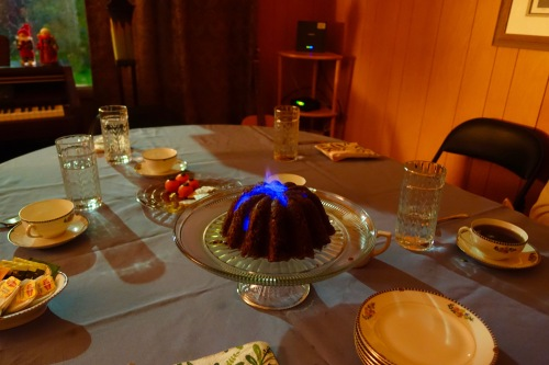 Flaming Plum Pudding