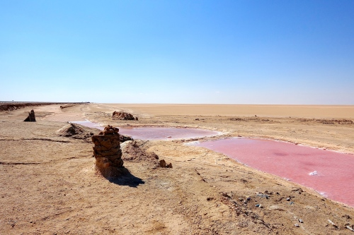 Iron Oxide in water Chott el Djerid. Tunisia