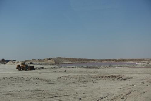 Mining Pink Salt. Tunisia