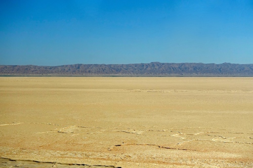 Salt Flats in Southern Tunisia