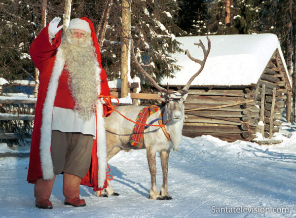 santa claus at north pole - Santa And The North Pole