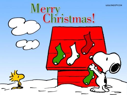 Snoopy Hanging Christmas Stockings