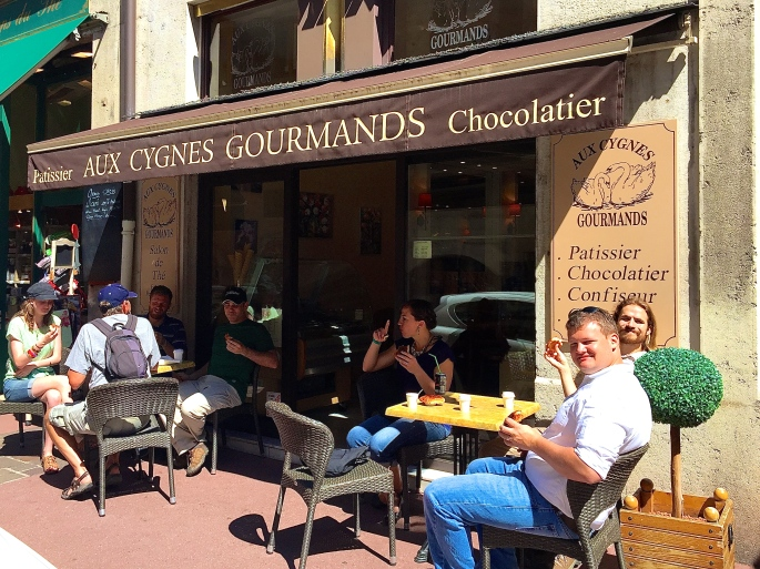 Croissants at Aux Cygnes Gourmands. Annecy France
