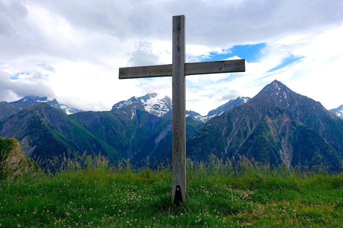 Cross in French Alps