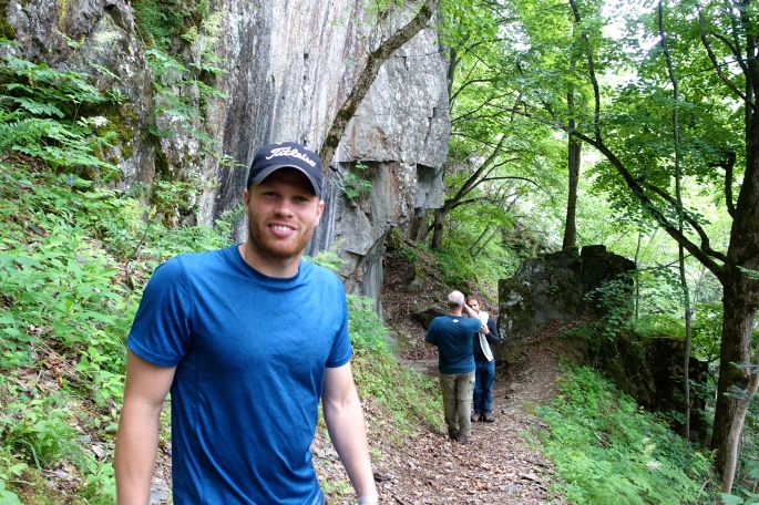 Hiking in the Alps. Zach had my back!