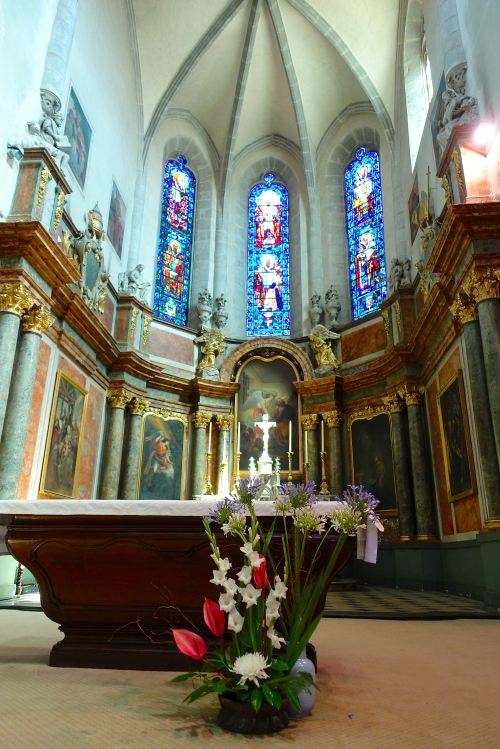 Interior of church in Annecy France