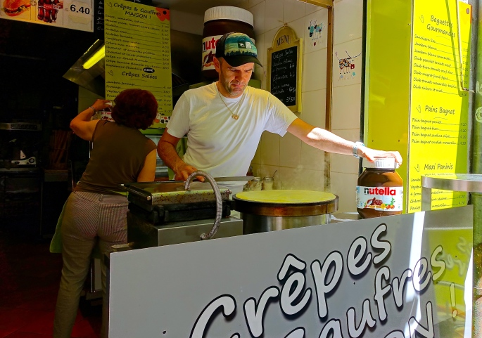Nutella. A crepe staple! Annecy France