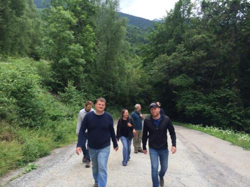 Paul's Hiking in French Alps. Starting the hike