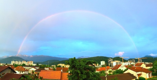 Rainbow over Grenoble