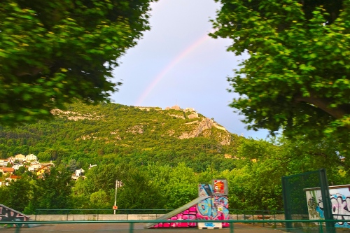 Rainbow over the Bastille. Grenoble