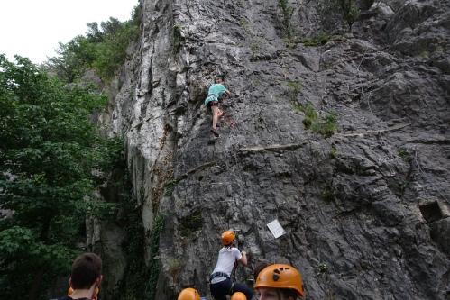 Rock climbing. Bastille. Grenoble. 2