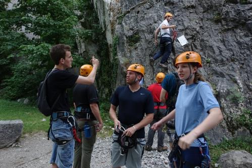 Rock climbing. Bastille. Grenoble. 3