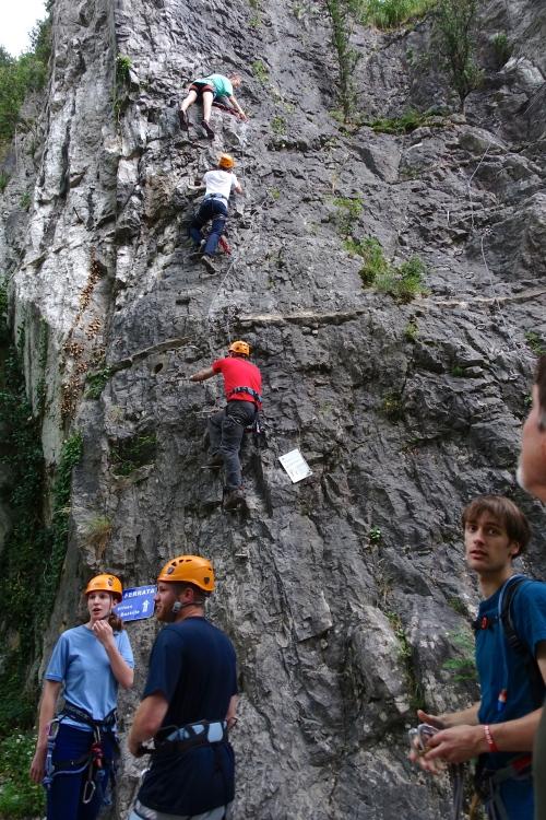 Rock climbing. Bastille. Grenoble