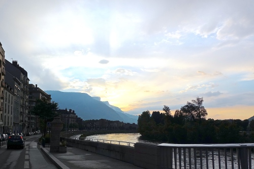 Sunset in Grenoble