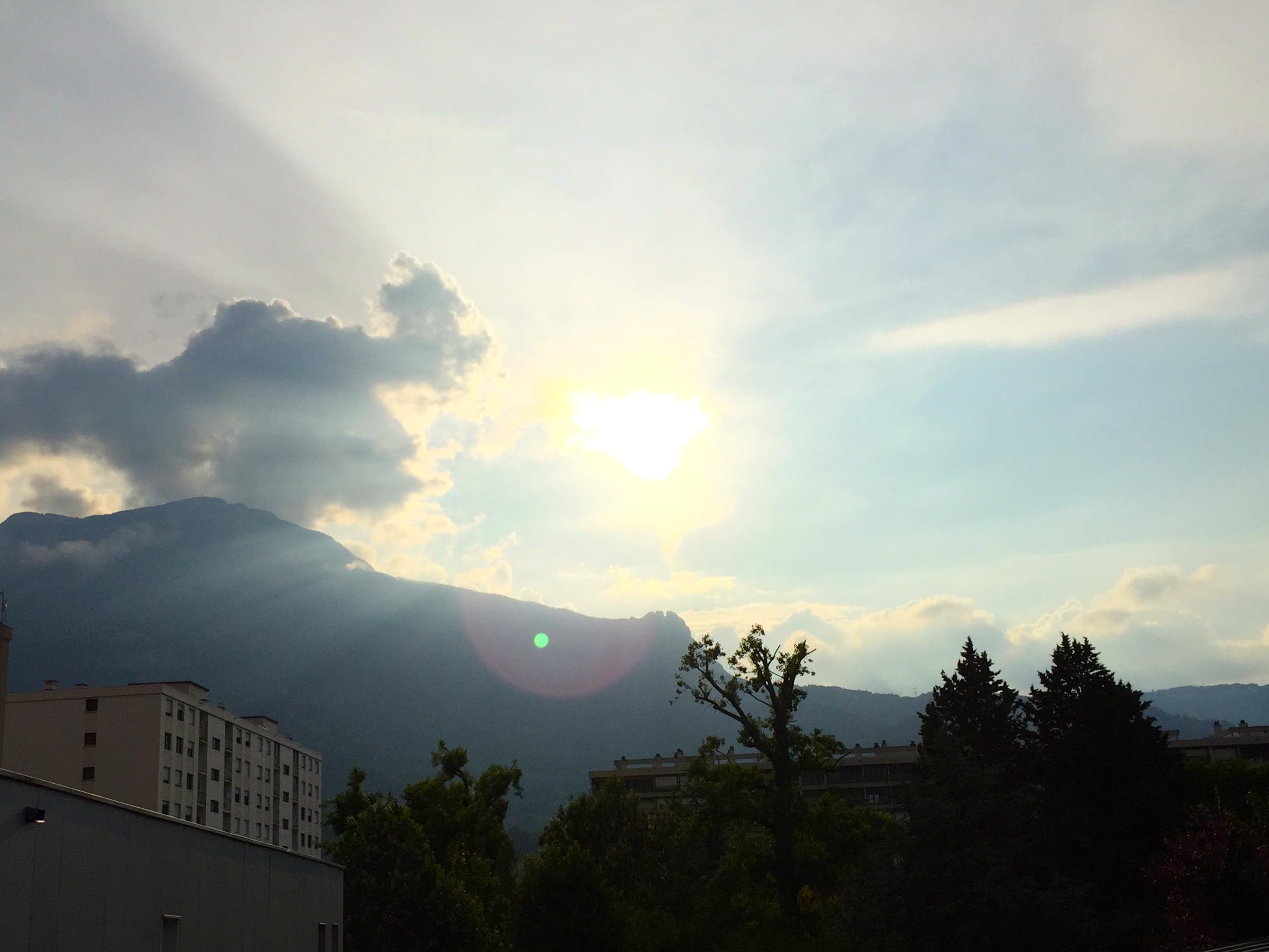 Sunset in Grenoble
