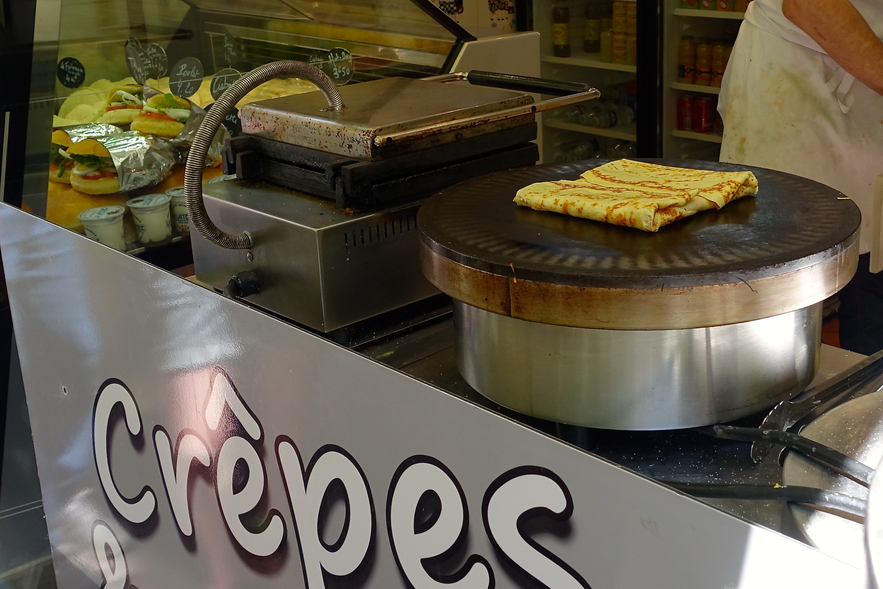Sweet and savory crepes for sale Annecy France