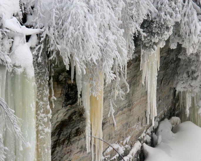 Tahquamenon Falls in the Winter