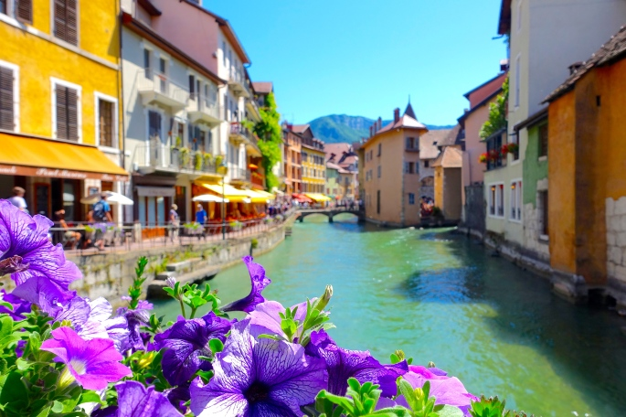 Thiou River in Annecy, France 2