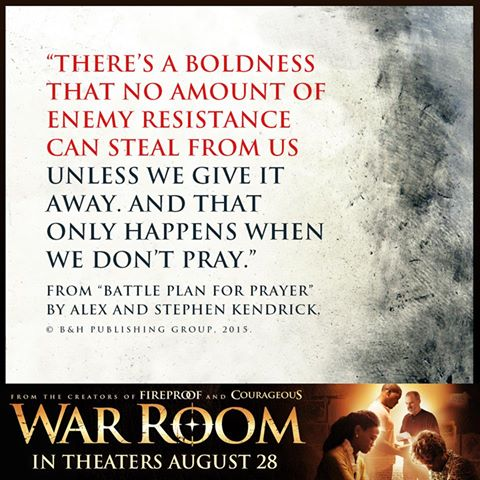 War Room Being Bold because of prayer