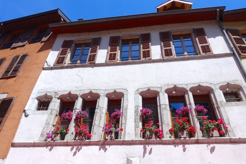 Windowboxes in Annecy