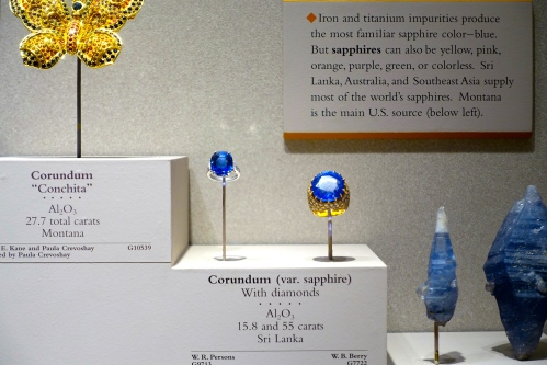 55 carat Sapphire from Sri Lanka. Smithsonian