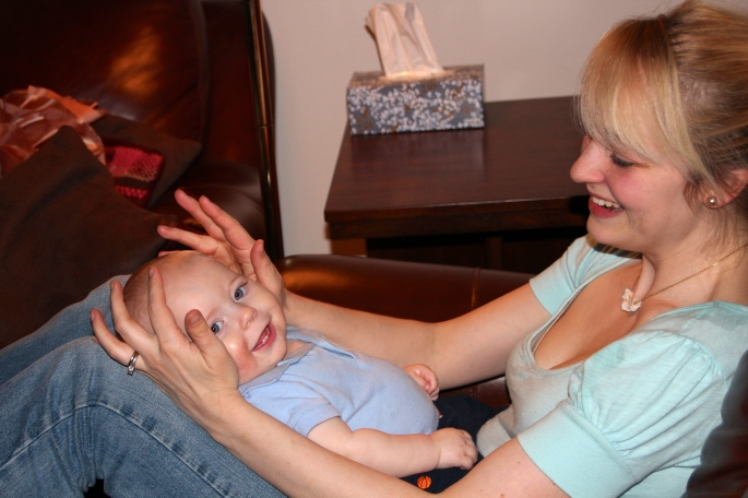 Baby on Mom's lap