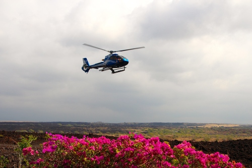Blue Hawaiian Helicopter Lifing Off