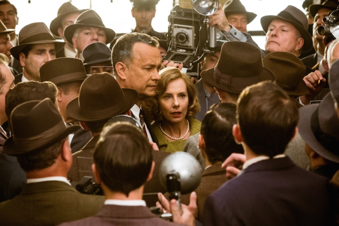 In DreamWorks Pictures/Fox 2000 Pictures' BRIDGE OF SPIES, directed by Steven Spielberg, Brooklyn lawyer James Donovan (Tom Hanks) and his wife Mary (Amy Ryan) become the target of anti-communist fears when Donovan agrees to defend a Soviet agent arrested in the U.S.