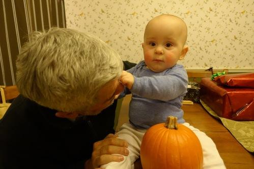 Grabbing Grandpa's Nose