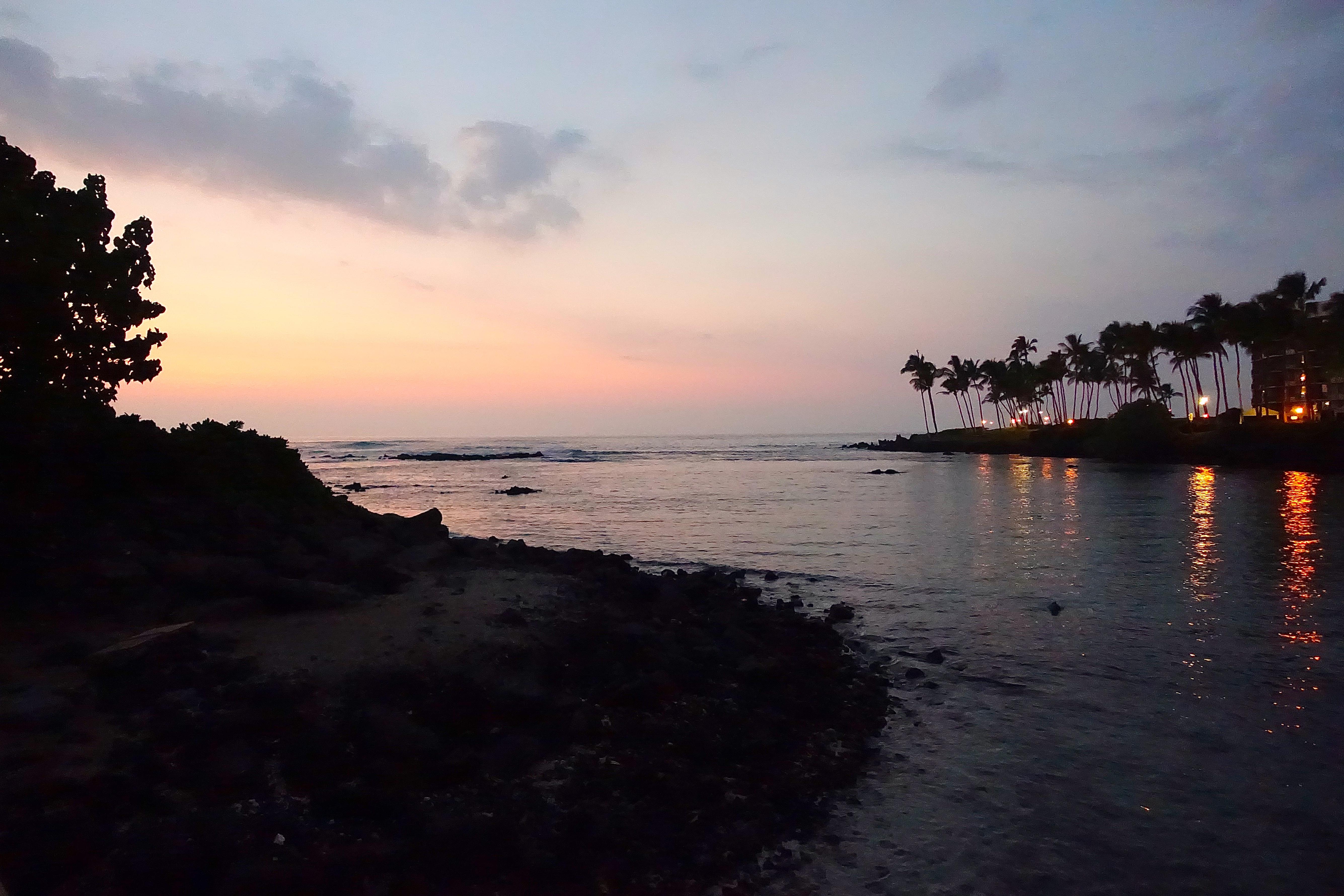 Hawaiian sunset from Waikaloa