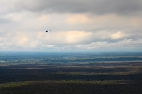 Helicopter over Mt. Kilauea