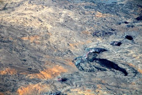 Hot lava bubbling on Mt. Kilauea