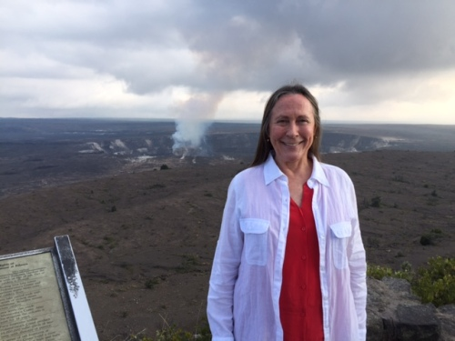 Kathi at Volcanoes National Park