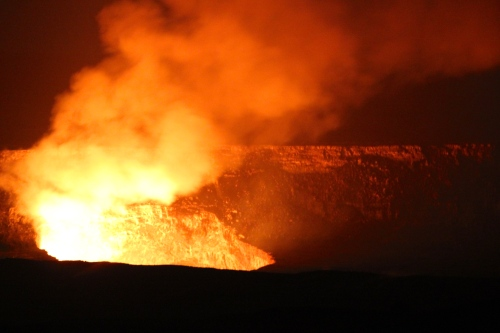 Kilauea Volcano's smoldering caldera 3