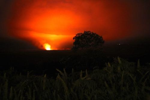 Kilauea Volcano's smoldering caldera