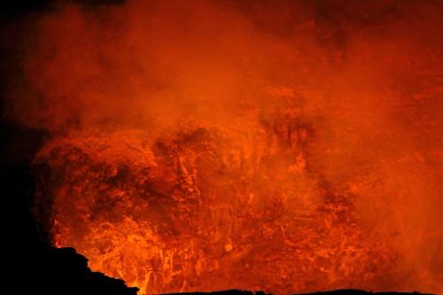 Looks like the pit of Hell. Halema'uma'u Crater.