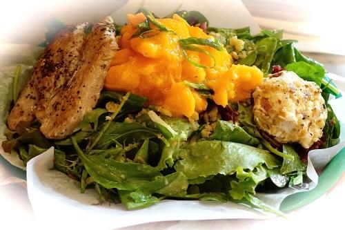 Mahi Mahi with Papaya salad and goat cheese